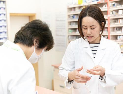 薬剤師の知識をフルに生かし 幅広い観点からアドバイスします